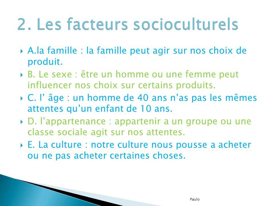 2. Les facteurs socioculturels