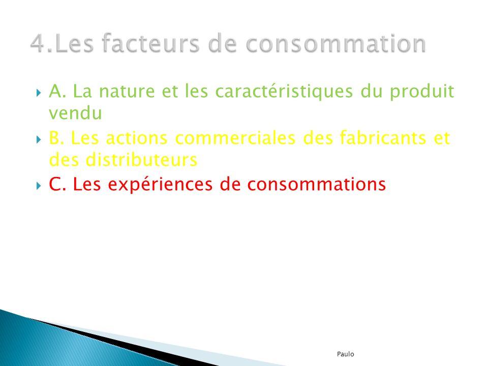 4.Les facteurs de consommation