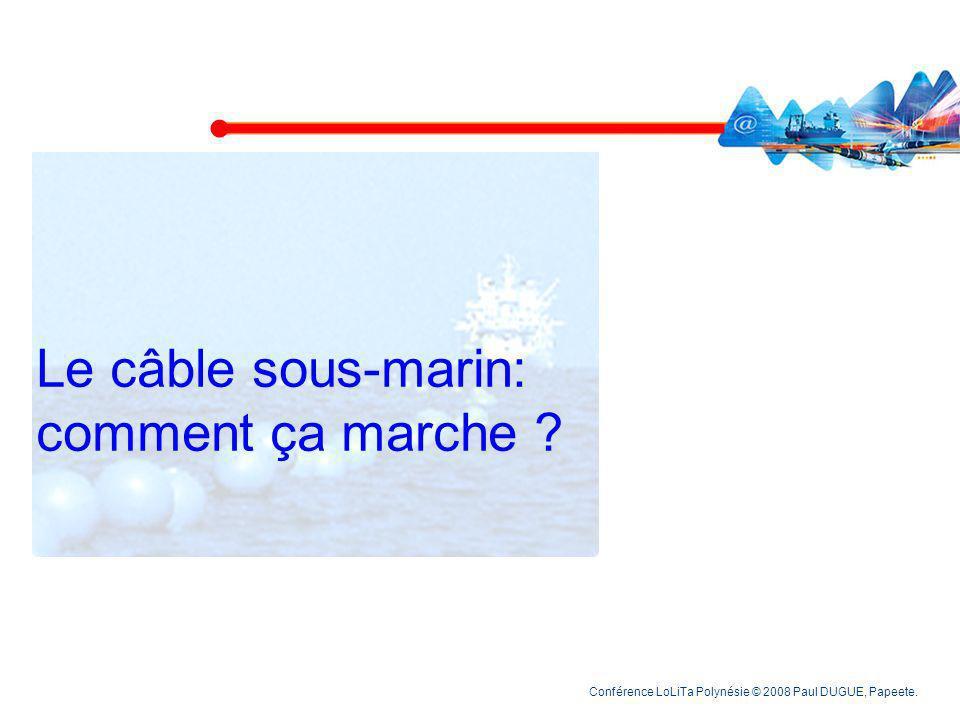 Le câble sous-marin: comment ça marche