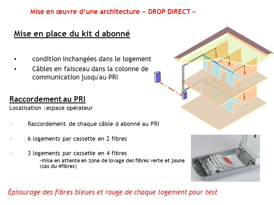 Mise en œuvre d'une architecture « DROP DIRECT »