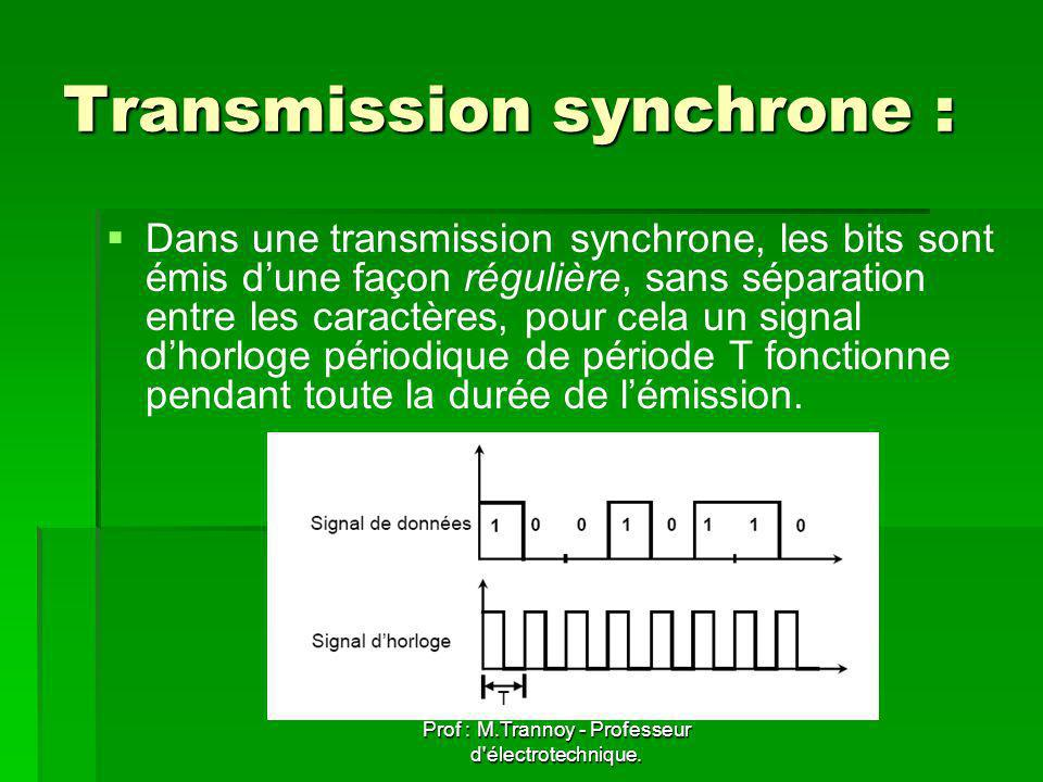 Transmission synchrone :