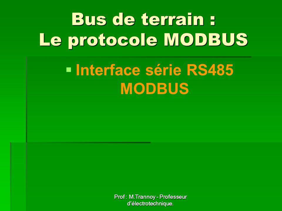 Bus de terrain : Le protocole MODBUS