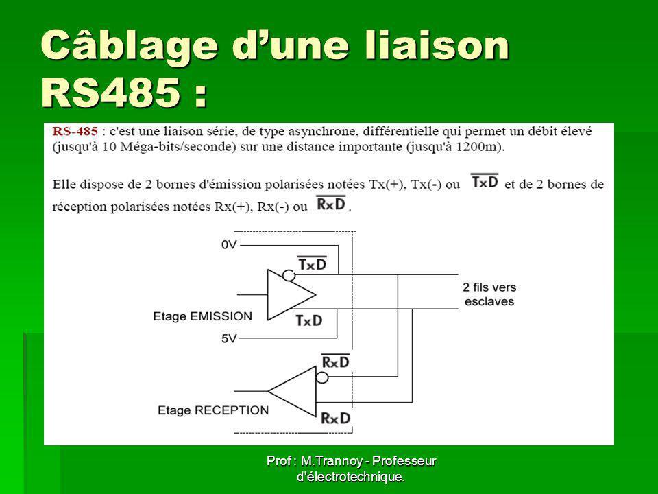 Câblage d'une liaison RS485 :