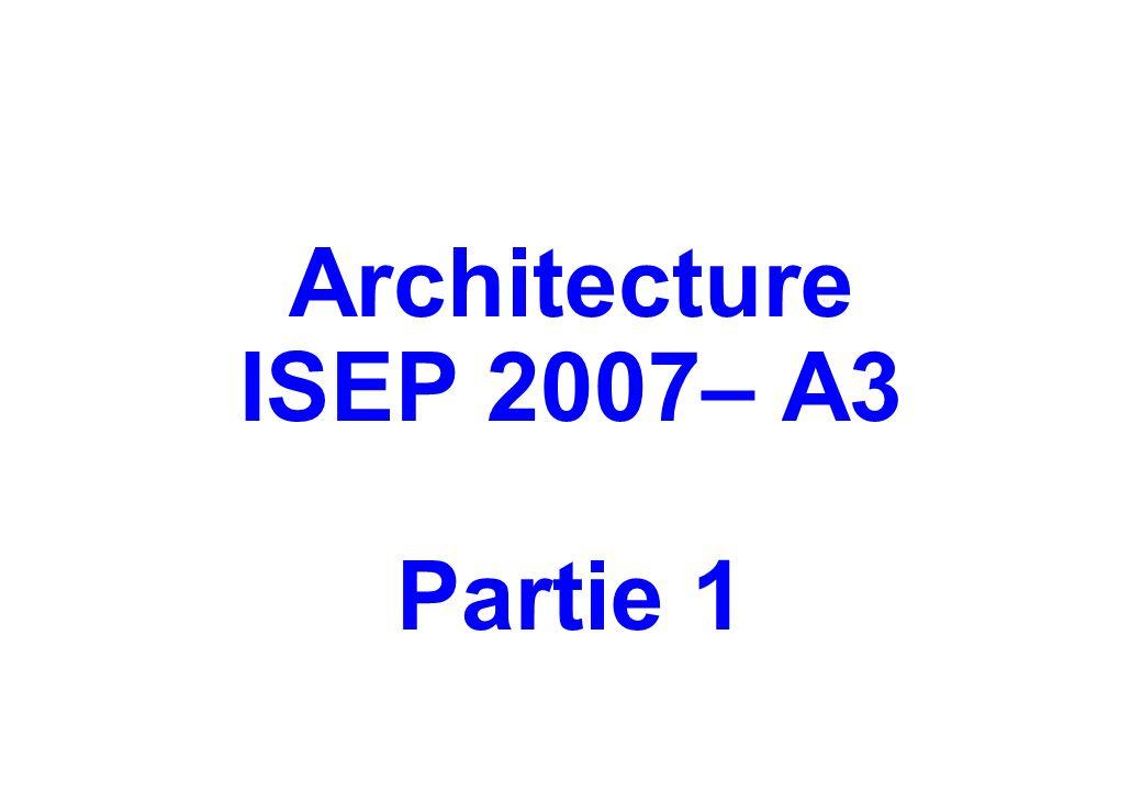 Architecture ISEP 2007– A3 Partie 1