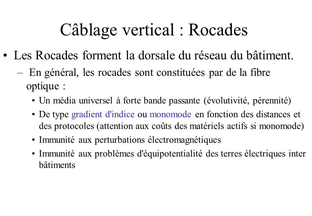 Câblage vertical : Rocades