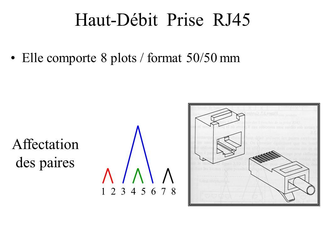 Haut-Débit Prise RJ45 Affectation des paires