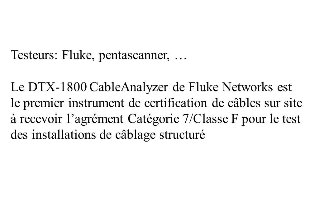 Testeurs: Fluke, pentascanner, …