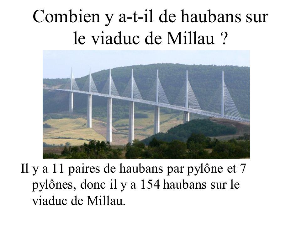 Combien y a-t-il de haubans sur le viaduc de Millau