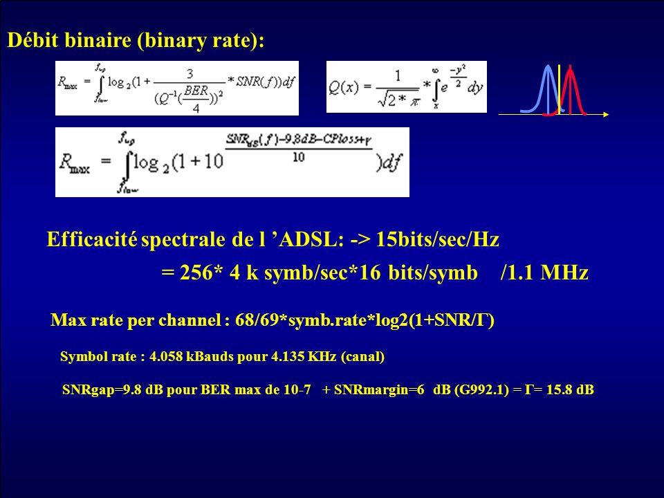 Débit binaire (binary rate):