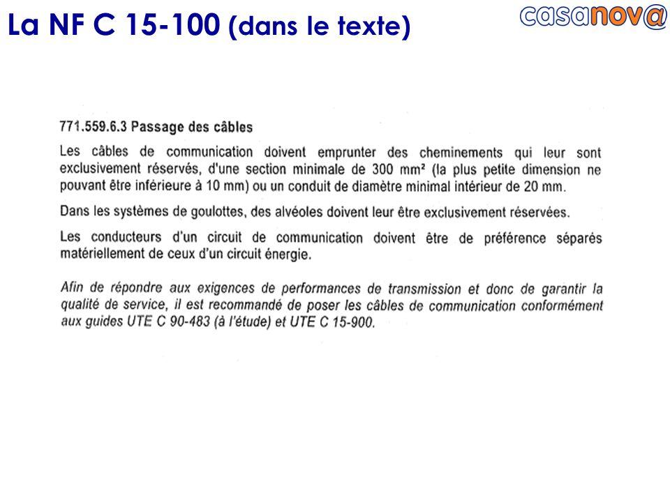 La NF C 15-100 (dans le texte)