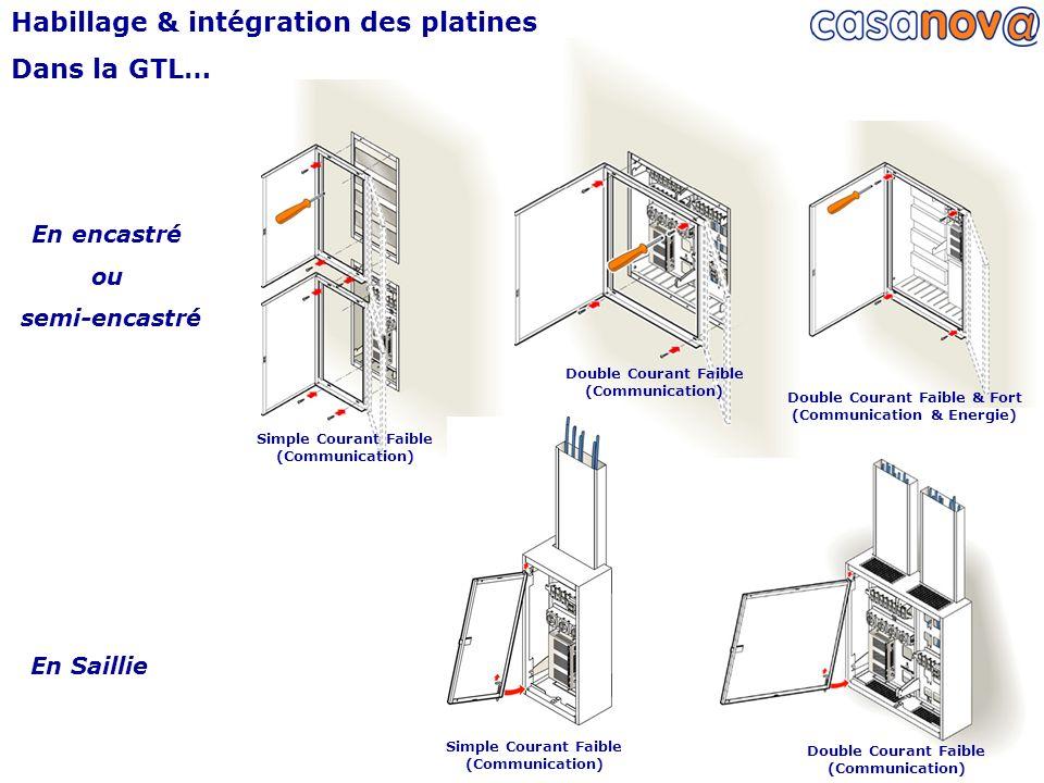 Habillage & intégration des platines Dans la GTL…