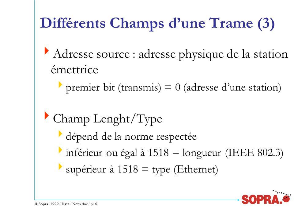 Différents Champs d'une Trame (3)