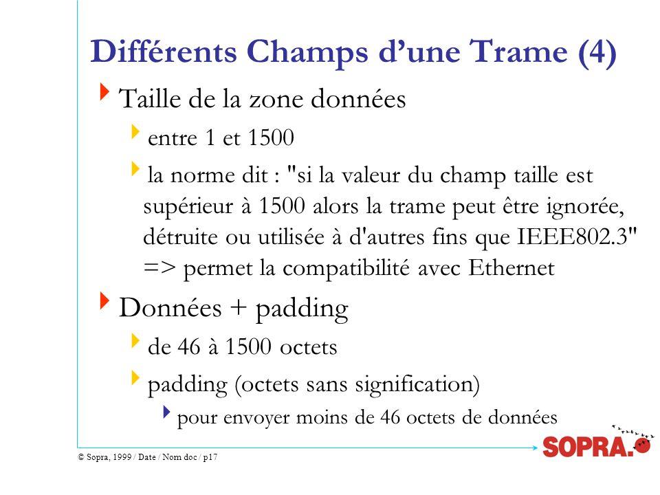 Différents Champs d'une Trame (4)