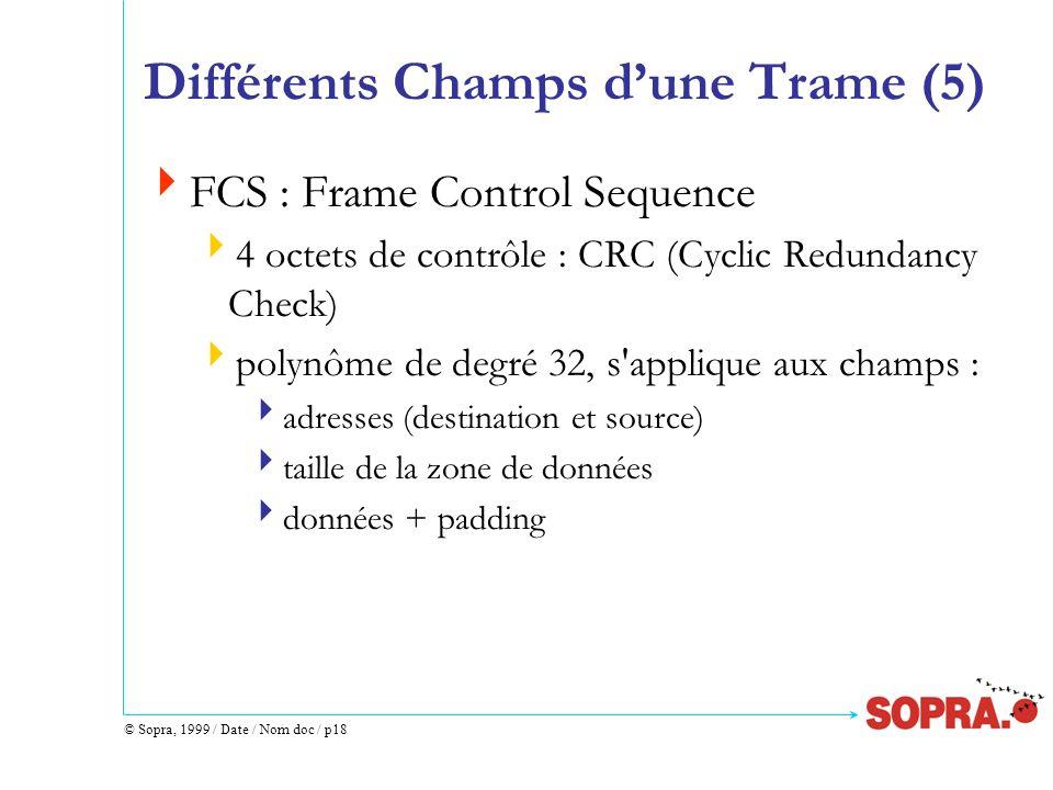 Différents Champs d'une Trame (5)