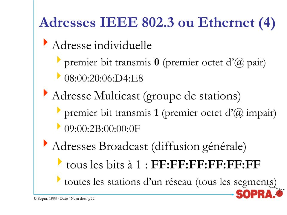 Adresses IEEE 802.3 ou Ethernet (4)