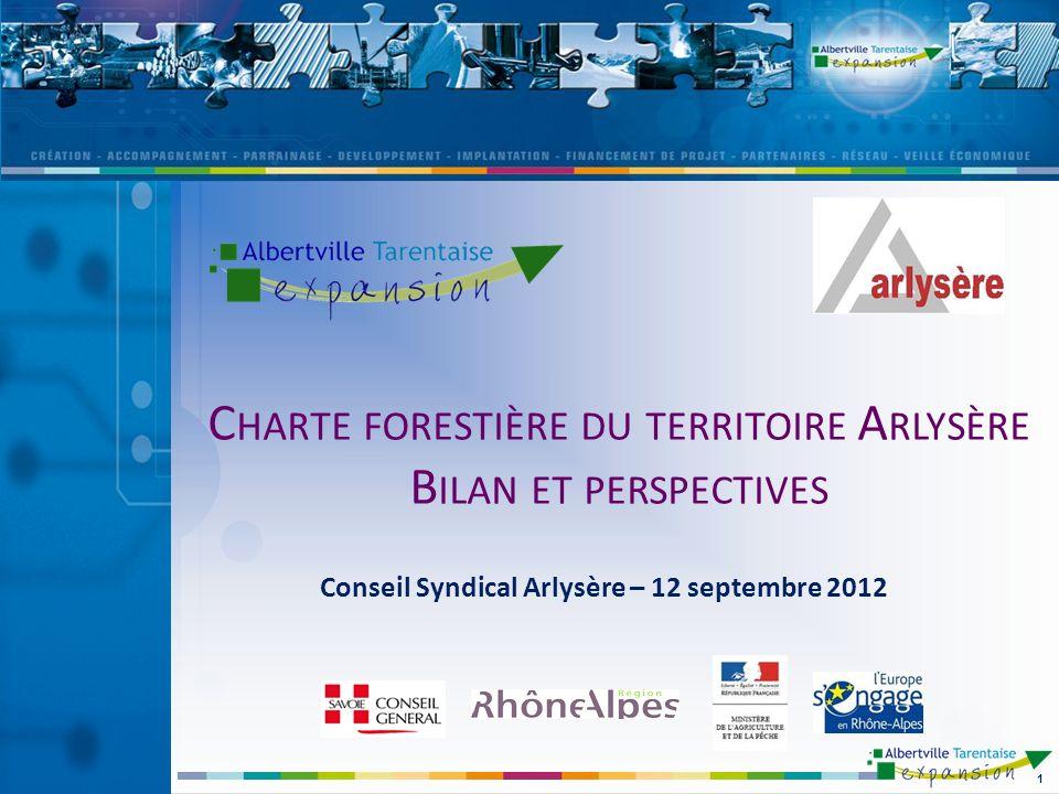 Charte forestière du territoire Arlysère Bilan et perspectives