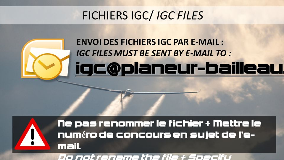 FICHIERS IGC/ IGC FILES