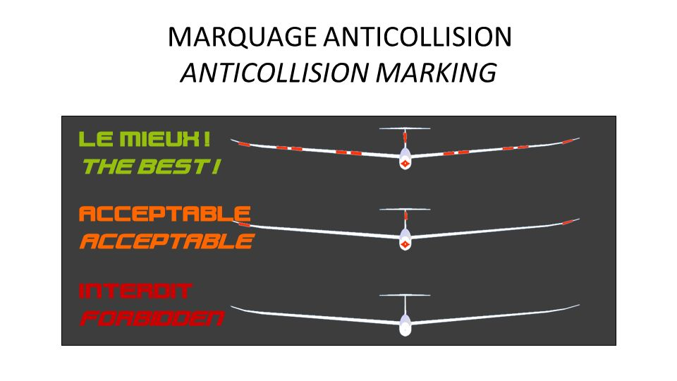 ANTICOLLISION MARKING