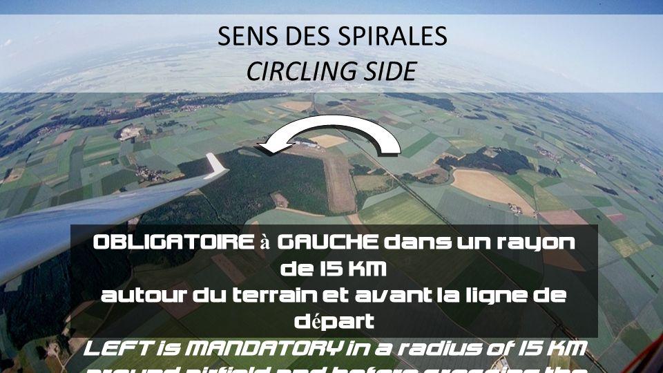 CIRCLING SIDE OBLIGATOIRE à GAUCHE dans un rayon de 15 KM