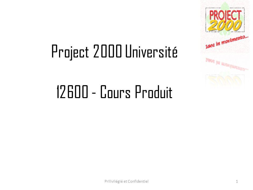 Project 2000 Université 12600 - Cours Produit
