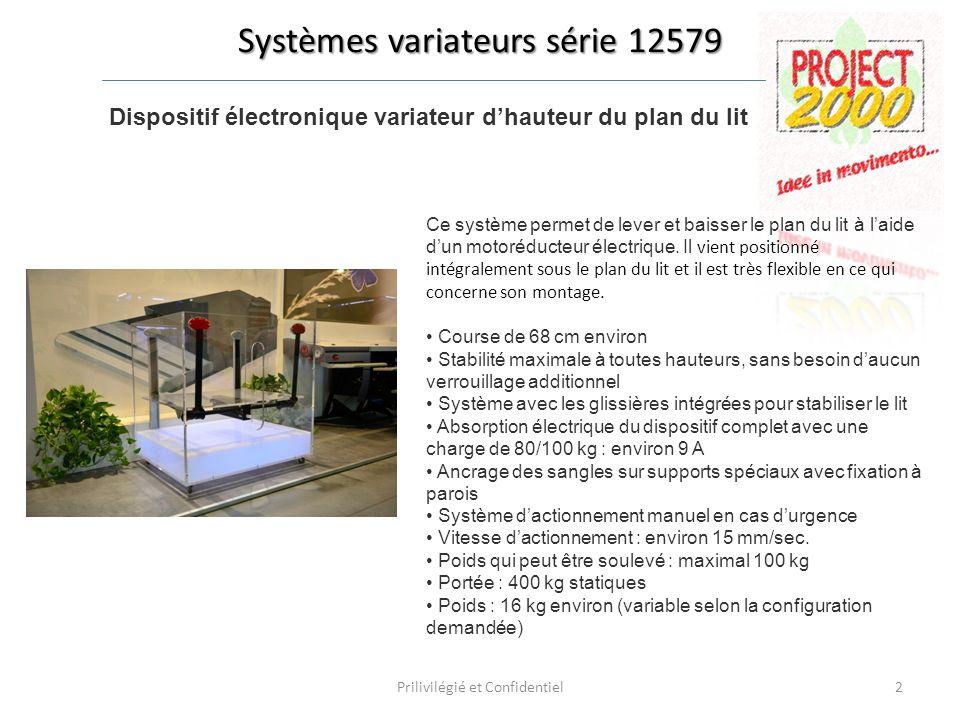 Dispositif électronique variateur d'hauteur du plan du lit