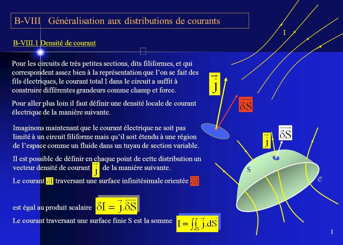 B-VIII Généralisation aux distributions de courants