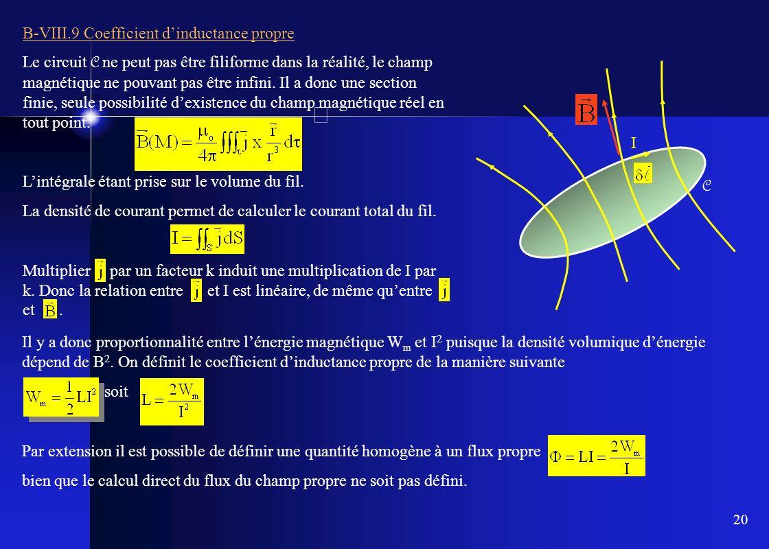B-VIII.9 Coefficient d'inductance propre