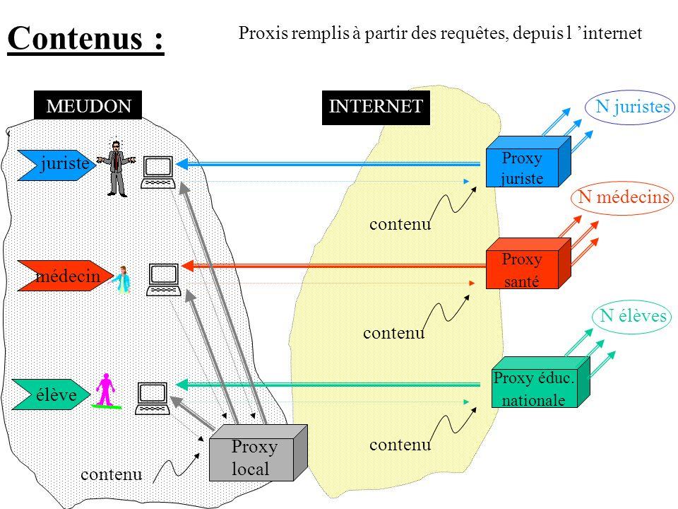 Contenus : Proxis remplis à partir des requêtes, depuis l 'internet. MEUDON. INTERNET. N juristes.