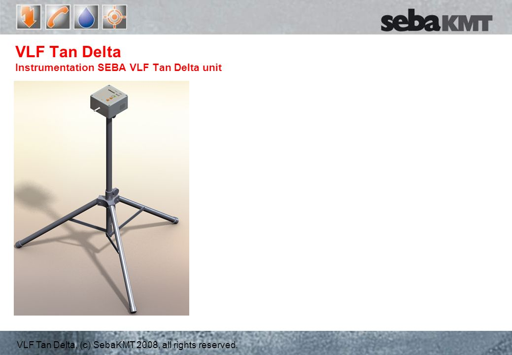 VLF Tan Delta Instrumentation SEBA VLF Tan Delta unit
