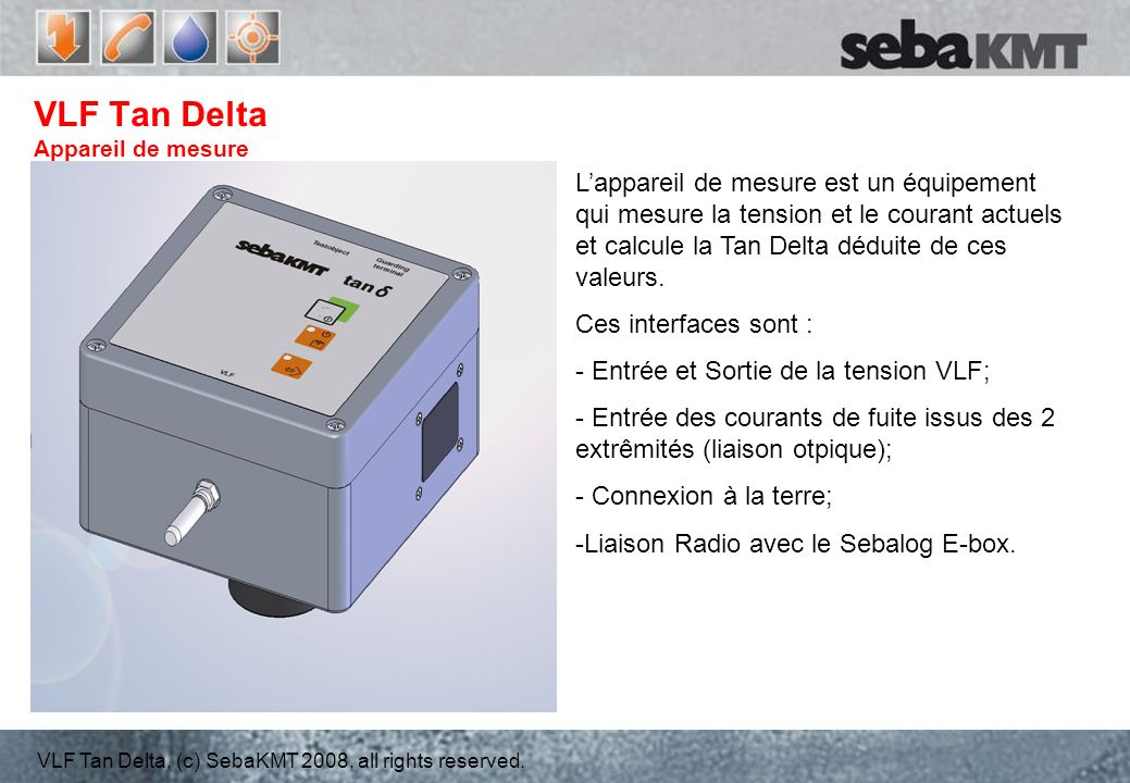 VLF Tan Delta Appareil de mesure