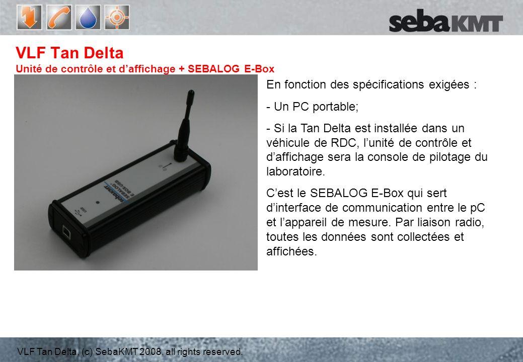 VLF Tan Delta Unité de contrôle et d'affichage + SEBALOG E-Box