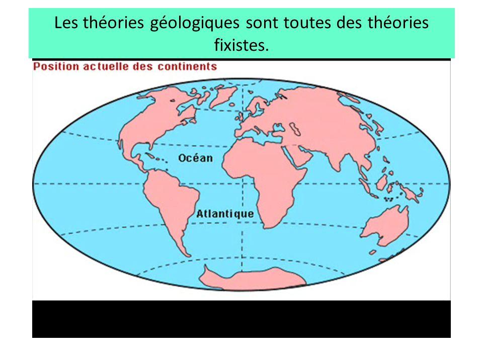 Les théories géologiques sont toutes des théories fixistes.
