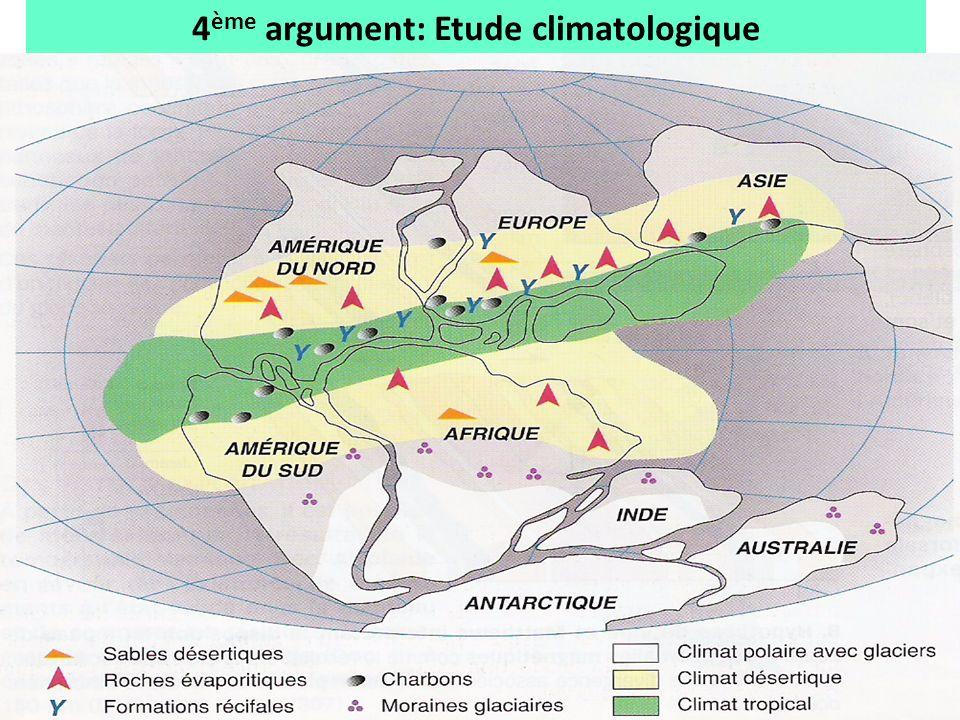 4ème argument: Etude climatologique