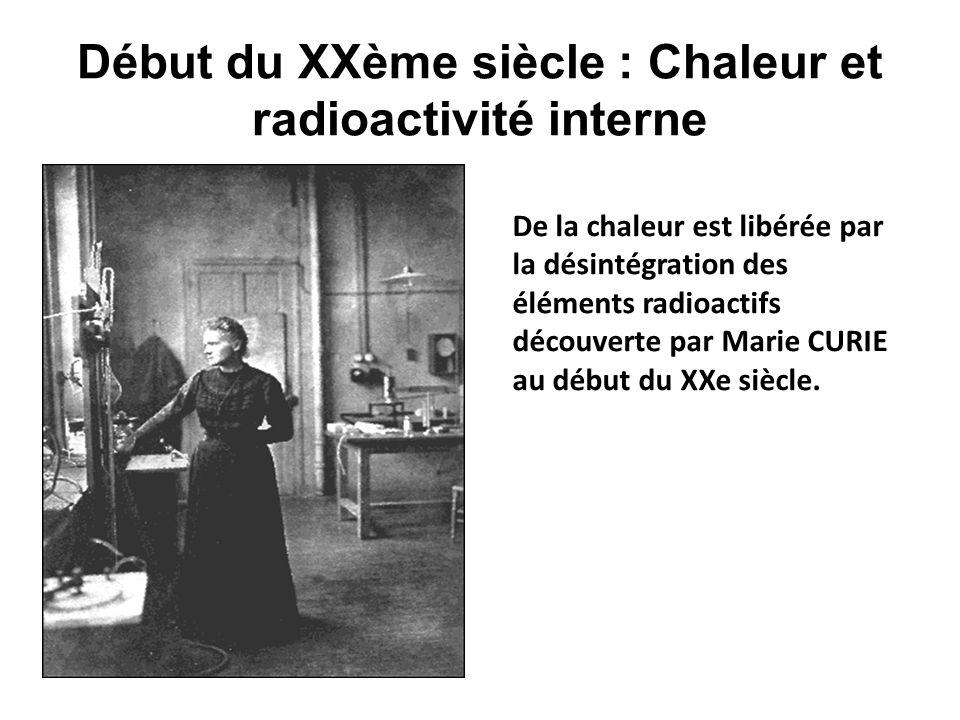 Début du XXème siècle : Chaleur et radioactivité interne