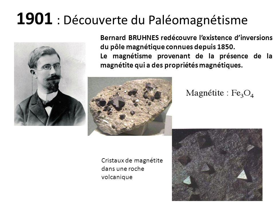 1901 : Découverte du Paléomagnétisme