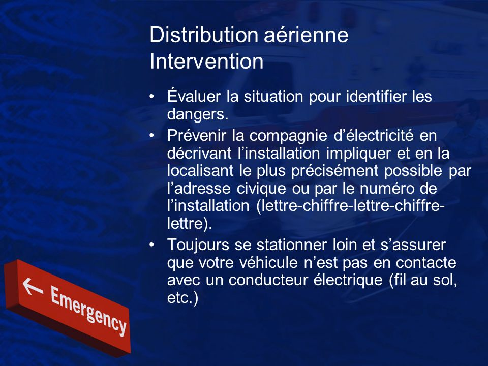 Distribution aérienne Intervention