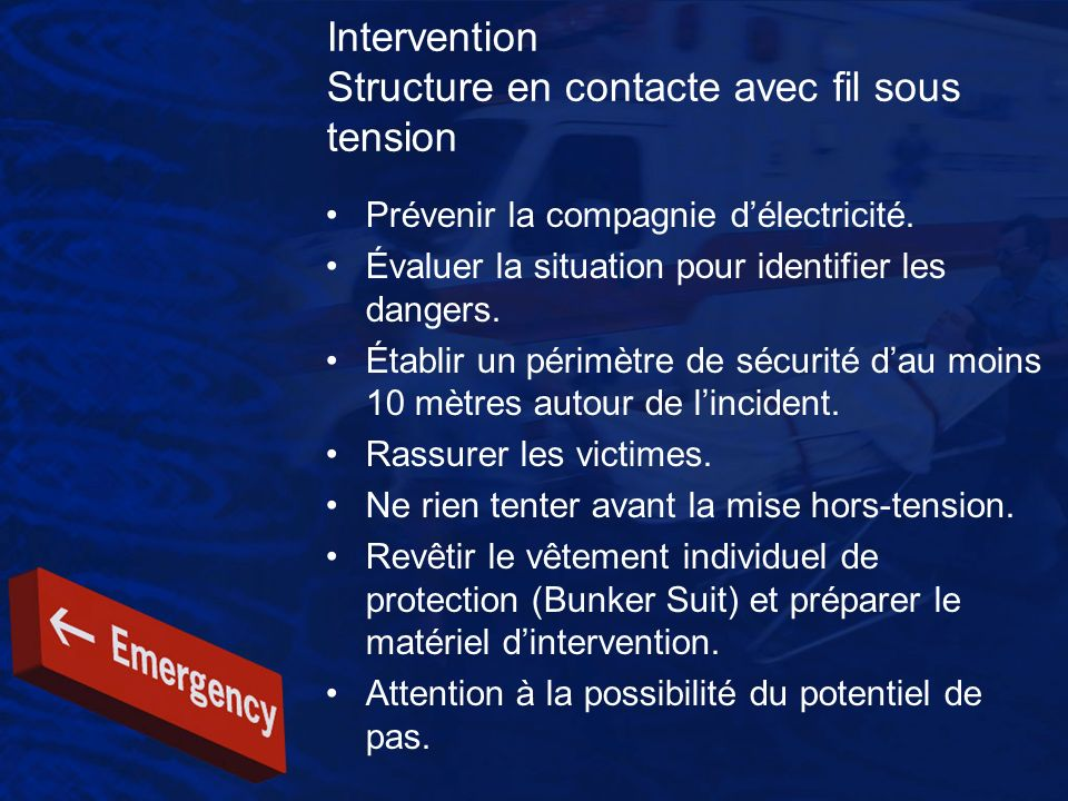 Intervention Structure en contacte avec fil sous tension