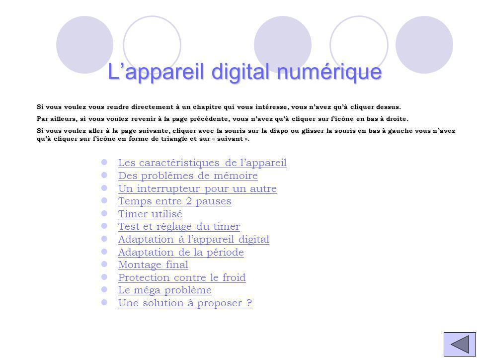 L'appareil digital numérique