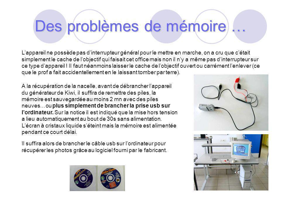 Des problèmes de mémoire …