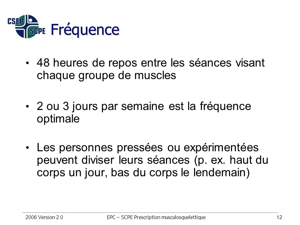 EPC – SCPE Prescription musculosquelettique
