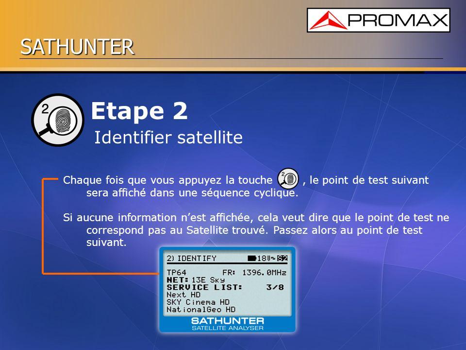 Etape 2 Identifier satellite