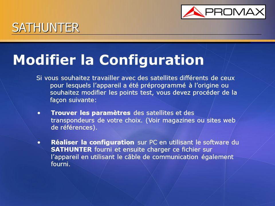 Modifier la Configuration
