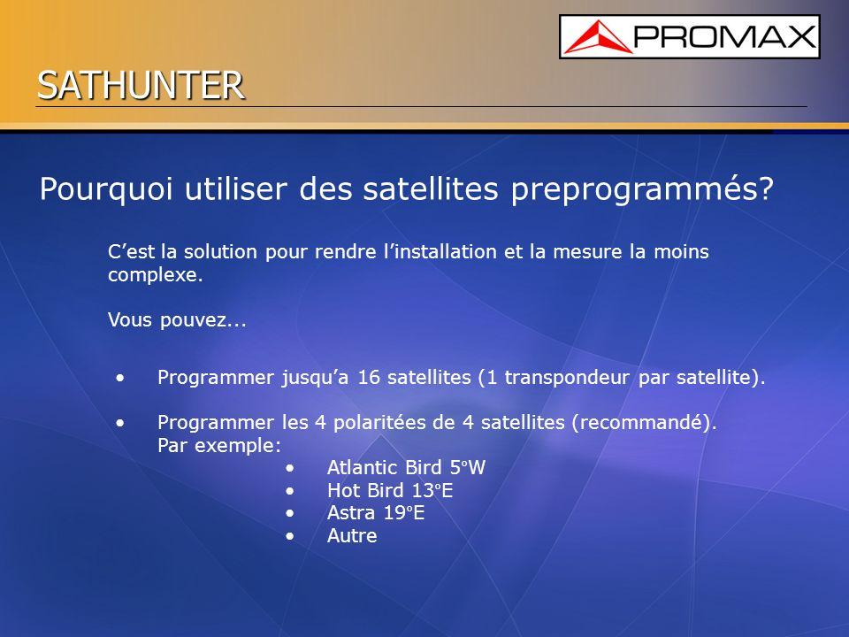 Pourquoi utiliser des satellites preprogrammés