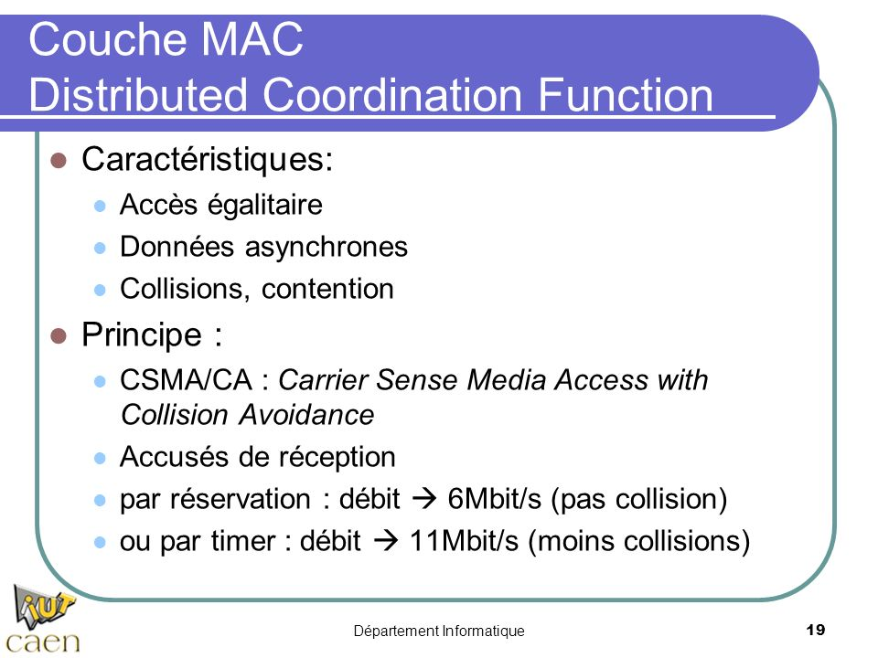 Couche MAC Distributed Coordination Function