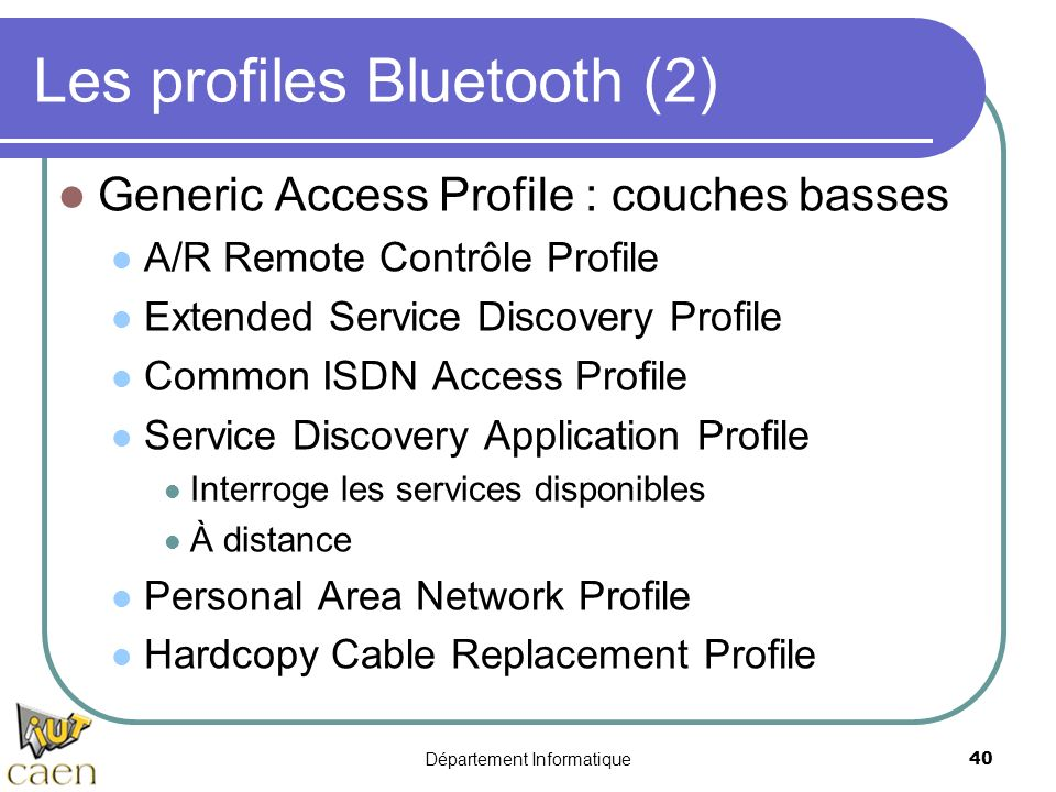 Les profiles Bluetooth (2)
