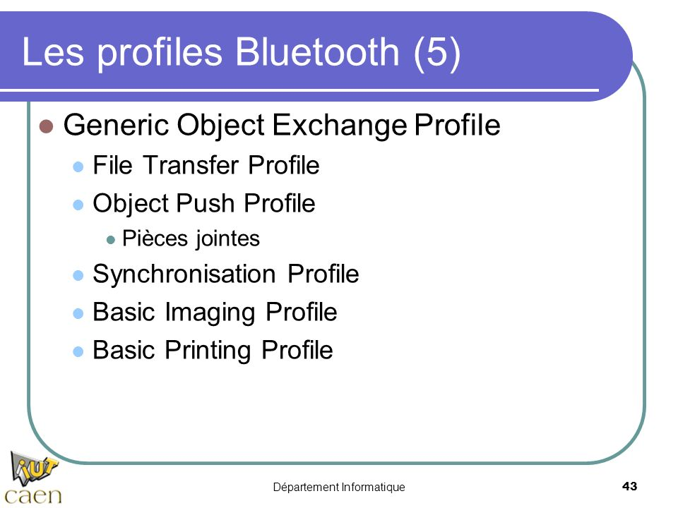 Les profiles Bluetooth (5)