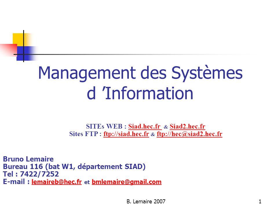 Management des Systèmes d 'Information