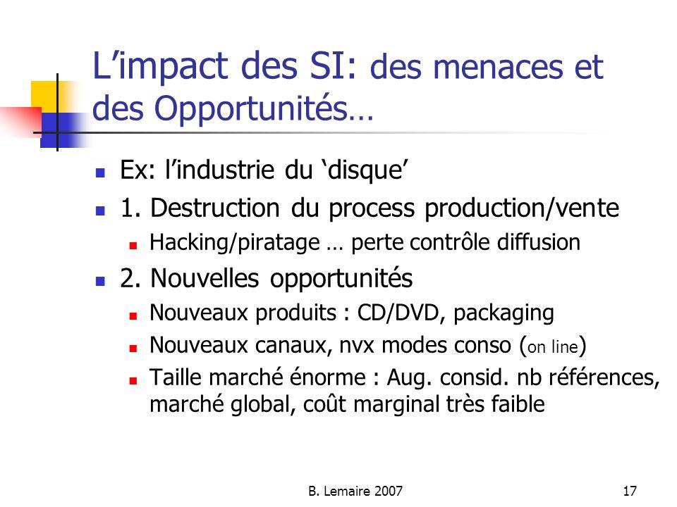 L'impact des SI: des menaces et des Opportunités…