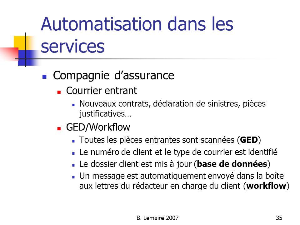 Automatisation dans les services