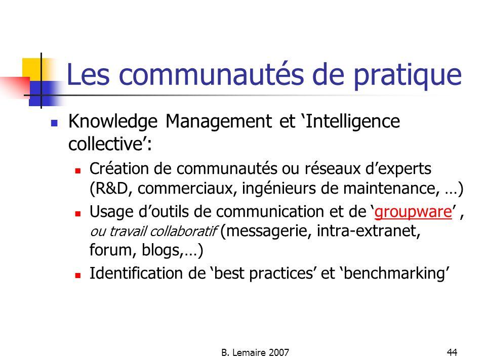 Les communautés de pratique